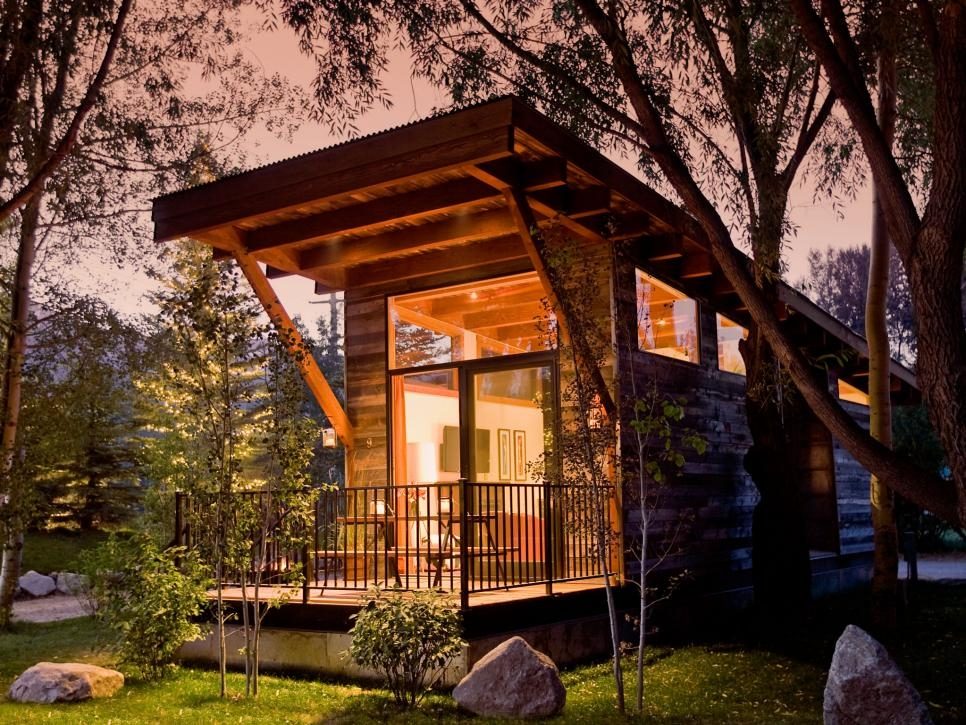 13 cool tiny houses on wheels hgtv Small Contemporary Cabins