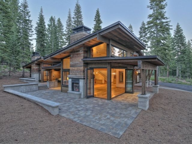 1379385exterior640x480 mountain modern in 2019 Small Modern Log Cabin