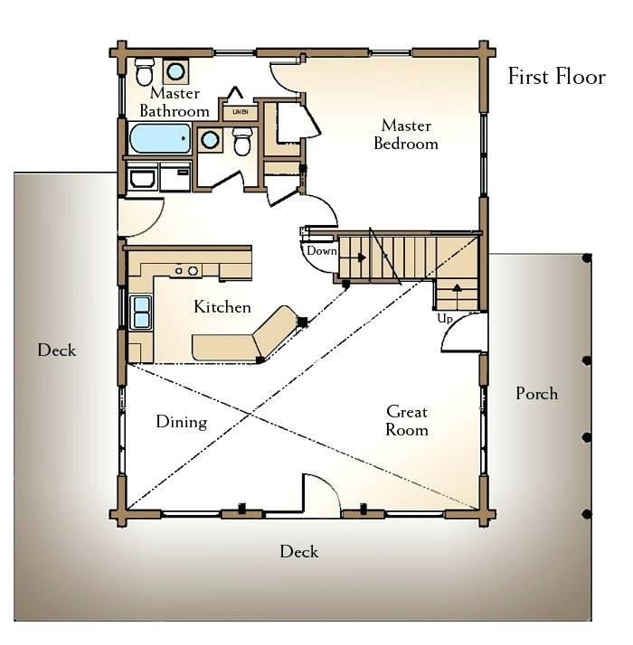 16x20 cabin floor plans build with loft plan elegant x cheap Hunting Cabin Floor Plans