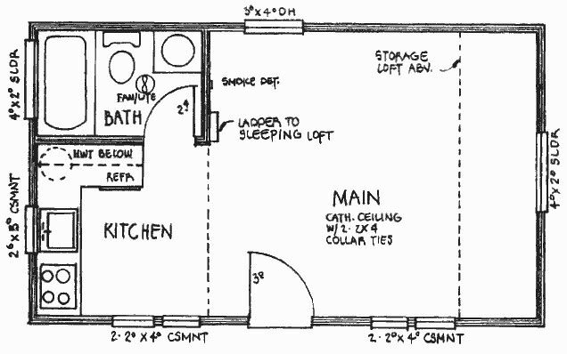 16x24 cabin plan interior plans living space in 2019 16x24 Cabin Plans With Loft