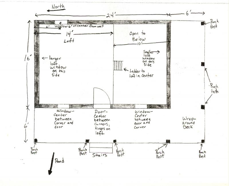 16×24 floor plan help small cabin forum 16×24 Cabin Plans With Loft