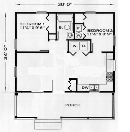 24 x 30 2 bedroom 1 bath house plans to adapt garage 24 X 30 Cabin Plans With Loft