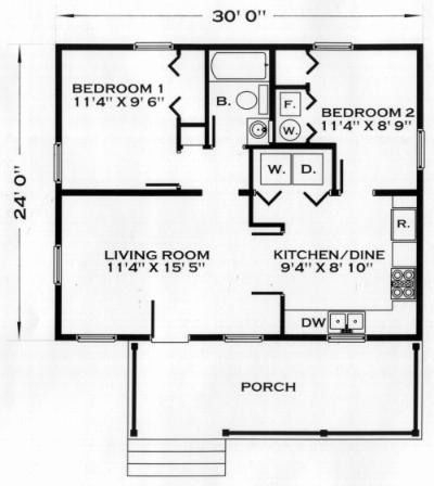 24 x 30 2 bedroom house plans beautiful 3030 house floor 24 X 30 Cabin Plans With Loft
