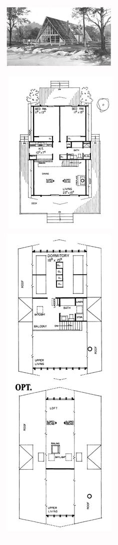 48 best a frame house plans images in 2019 a frame house A Frame Cabin Plans With Loft
