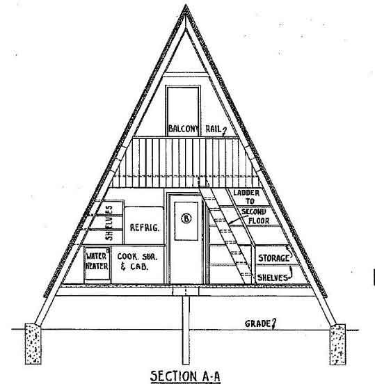 a frame cabin plan 36 feet high cabin in 2019 a frame A Frame Cabin Plans With Loft