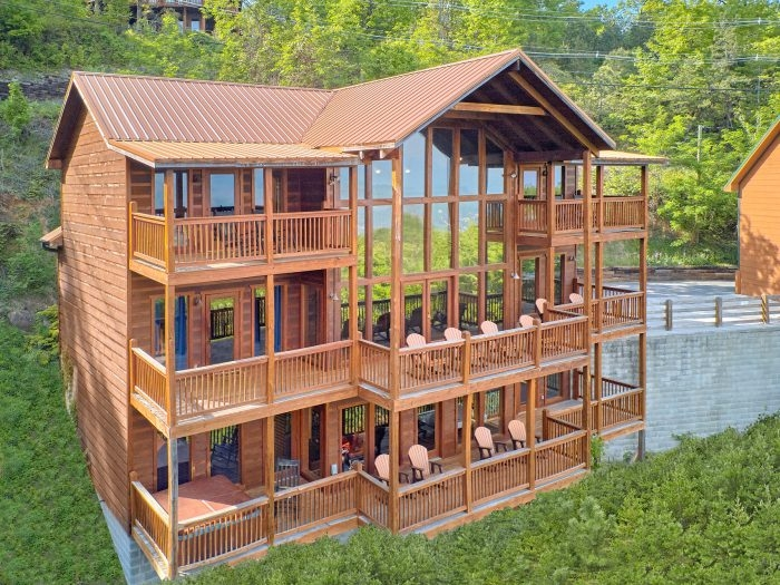 a view from above video walk through Cabins At Gatlinburg