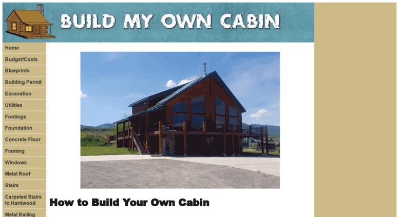 access buildmyowncabin build my own cabin Build My Own Cabin