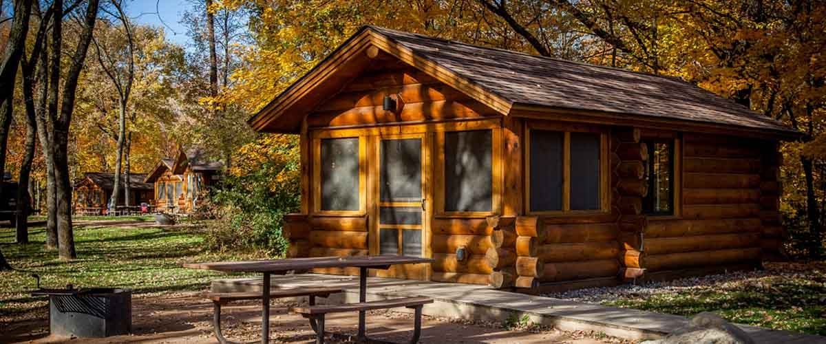 baker campground three rivers park district Campground With Cabins