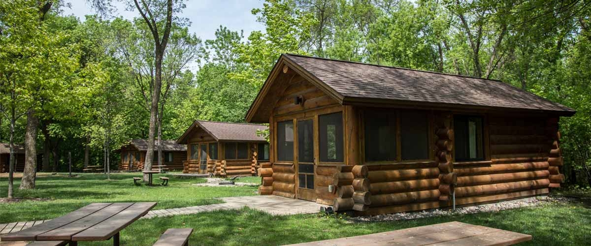 baker campground three rivers park district Campgrounds With Cabins