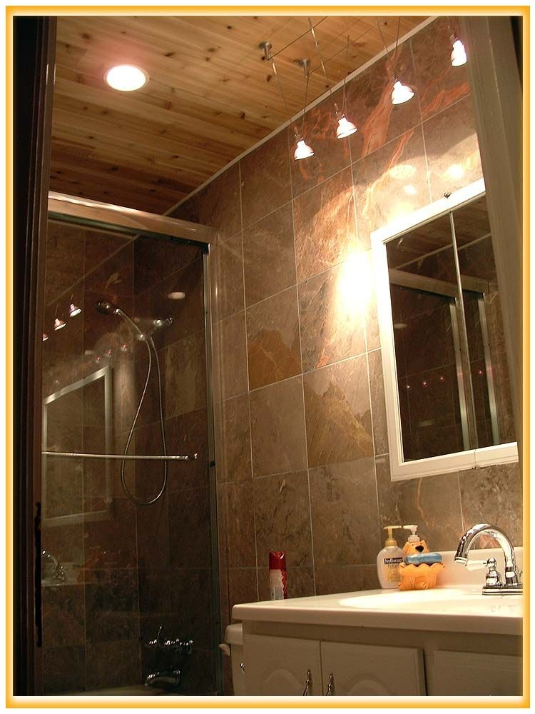 bathroom cabin bathroom accessories in small space with Cabin Bathroom Lighting