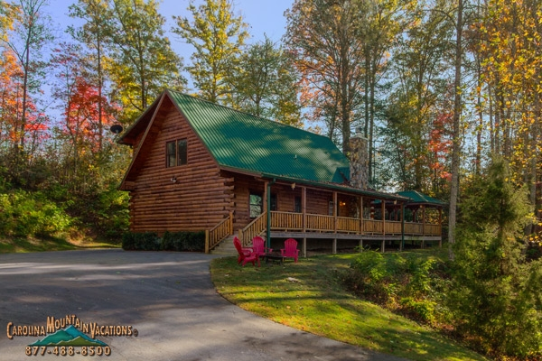bears way a cherokee nc log cabin 3 bedroom vacation rental Log Cabins For Rent In Nc Mountains