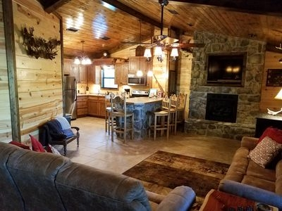 book a fall or winter vacation on the upper mountain fork river smithville Mountain Fork River Cabins