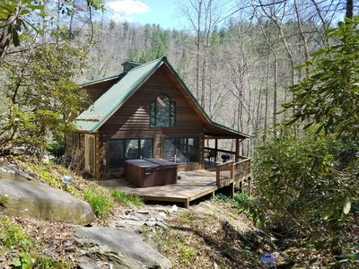 booneblowing rocklog cabinwaterfallfishn creekhottubfire pit10 actrails boone Secluded Cabins In Nc