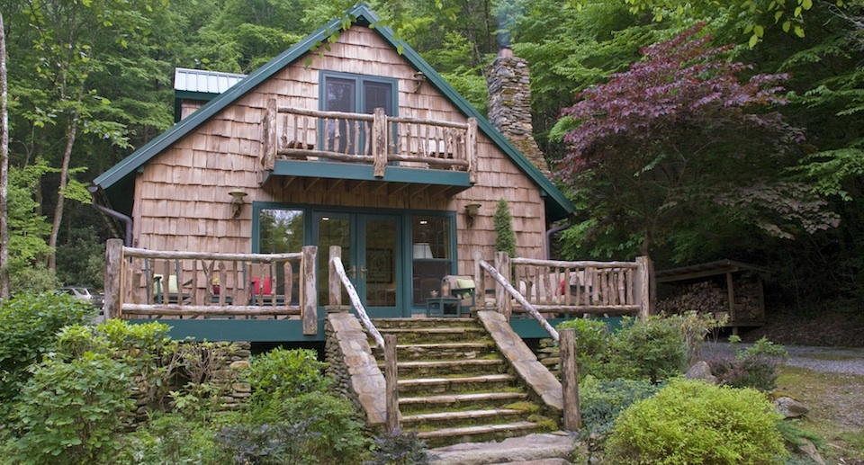 brevard nc waterfront cabins trout house falls Secluded Cabins In Nc