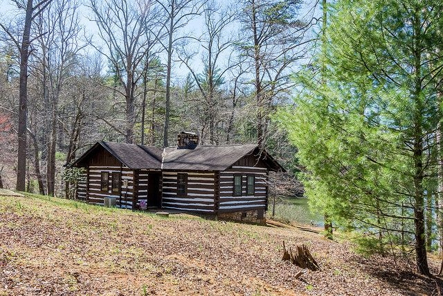 cabin 8 is 2 bedroom waterfront cabin at fairy stone state Va State Parks Cabins