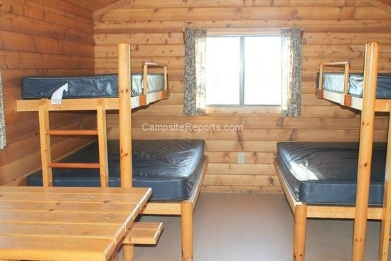 cabin inside for rent picture of glendalough state park Mn State Parks Cabins