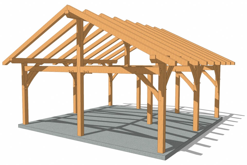 cabin plans timber frame hq Post And Beam Cabin