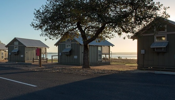 cabins at black rock park on lake buchanan texas hill country Lake Buchanan Cabins