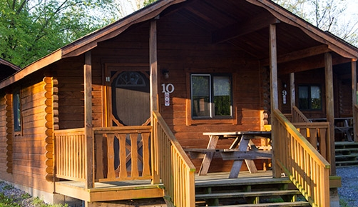 cabins basic log and deluxe hersheypark camping resort Camping Cabins In Pa