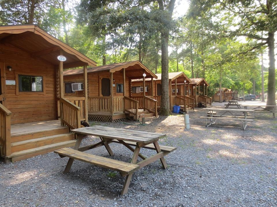 camping cabins lancaster log cabins Campgrounds With Cabins