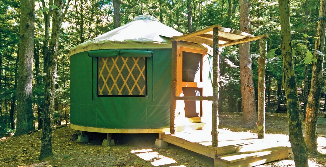 camping rentals in nh rvs cabins yurts new hampshire Cabin Camping In Nh