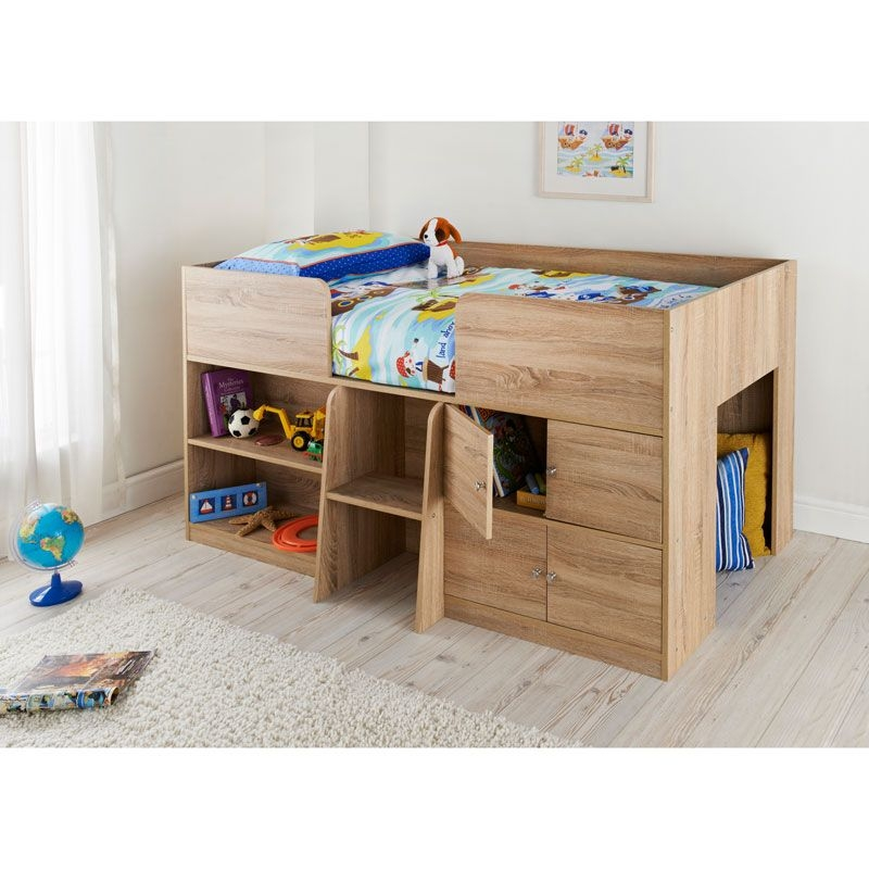 clifton kids cabin bed light oak finish cabin bed offers a Kids Cabin Beds With Storage