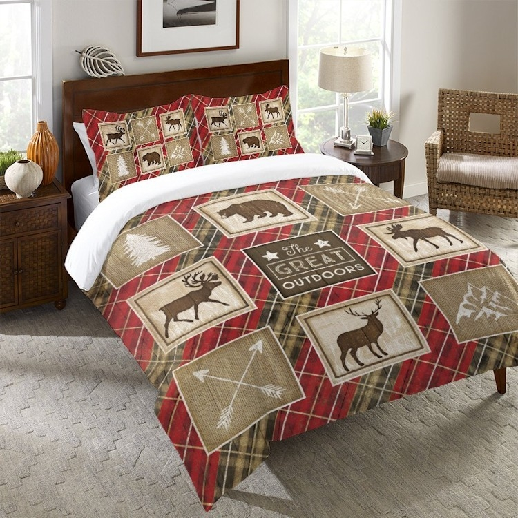 country lodge duvet covers Cabin Duvet Covers