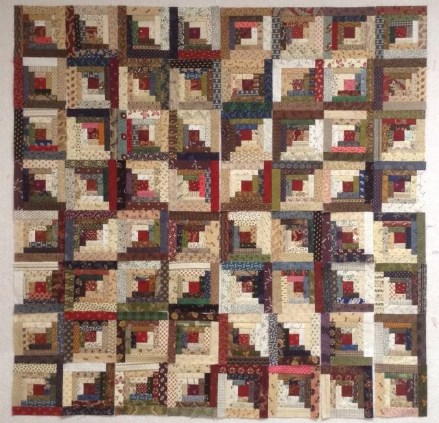 design wall monday a warm quilt hug log cabin patchwork Examples Of Log Cabin Quilts