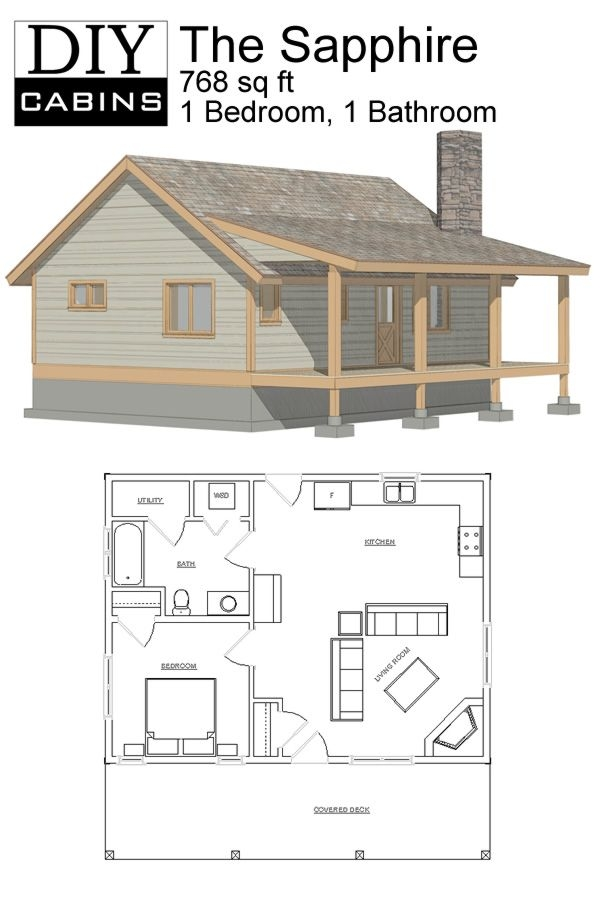 diy cabins the sapphire cabin diy cabin tiny house Simple Cabin Floor Plans
