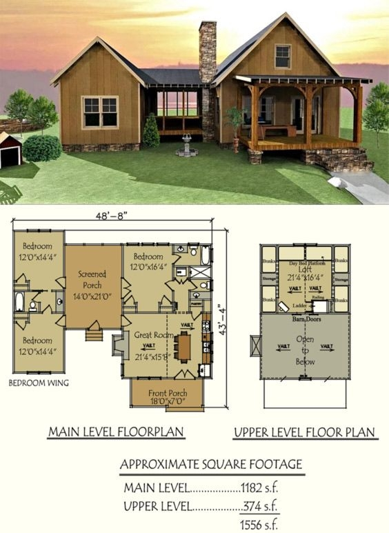 dog trot house plan in 2020 dog trot house plans house 4 Bedroom Cabin Plans