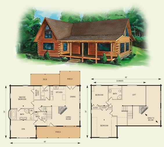dogwood ii log home and log cabin floor plan in 2019 house Wood Cabin House Plan