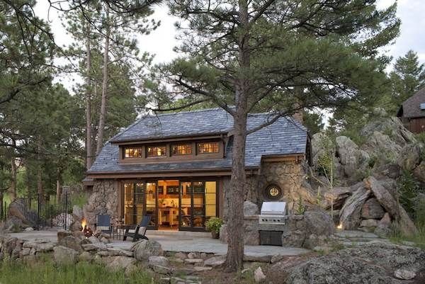 enchanted a small stone guest cottage in colorado home Small Mountain Cabins
