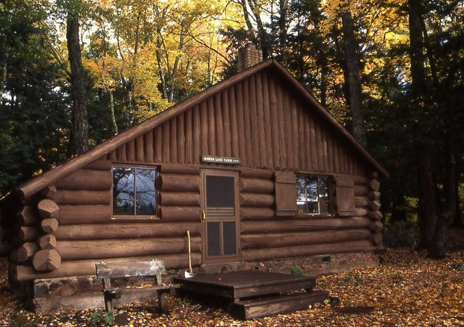 escape to a rustic cabin this weekend at one of these Porcupine Mountain Cabins