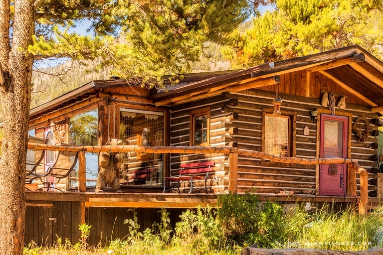 family friendly cabin rental with wood burning fireplace in the rocky mountains colorado Rocky Mountain Cabin