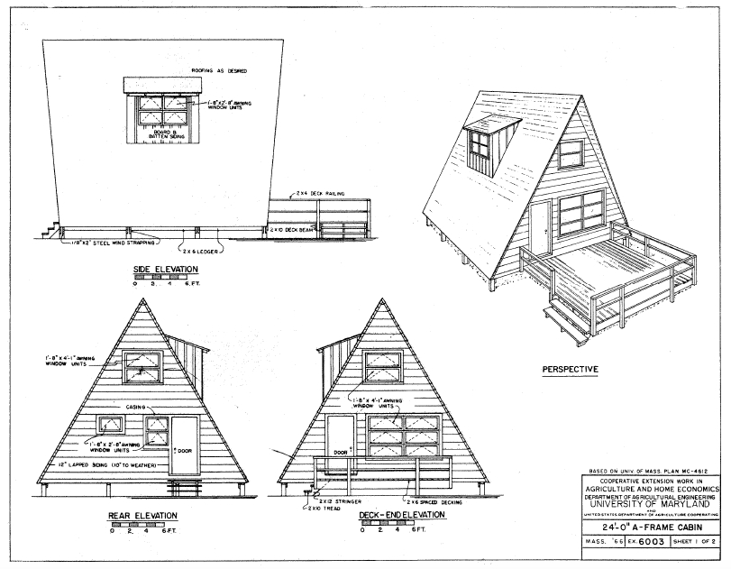 free e book guaranteed building plans 200 house plans A Frame Cabin With Loft Plans