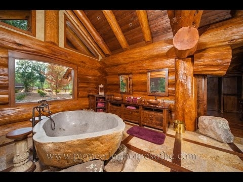 gorgeous log home bathroom ideas Log Cabin Bathroom Ideas