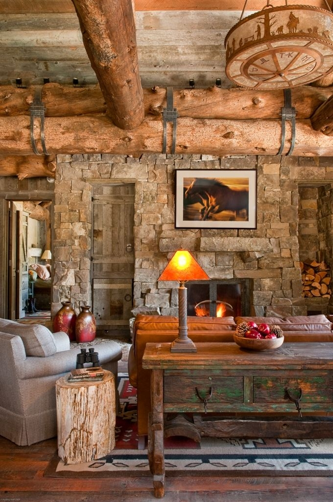 gorgeous rustic living room design ideas cabin style log Country Cabin Living Room Ideas
