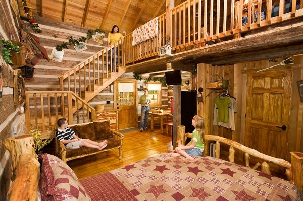 hand hewn cabins at silver dollar citys the wilderness in Wilderness Cabins Branson Mo