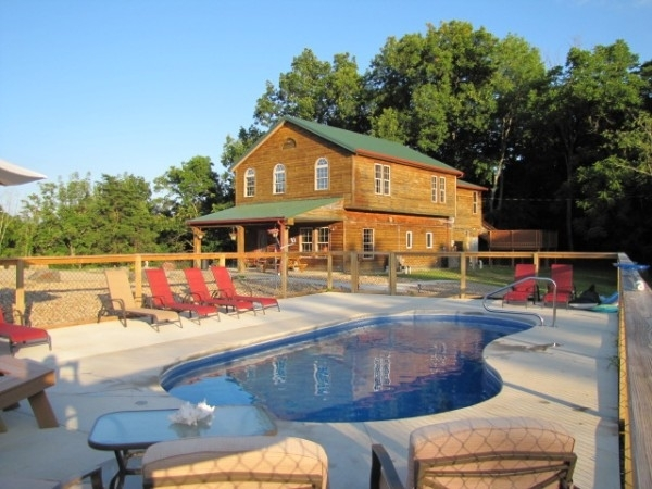 hilltop hideaway hocking hills cottages and cabins Hocking Hills Cabin With Pool