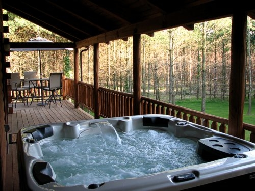 hocking hills cabin real log cabin with hot tub fireplace Ohio Cabins With Hot Tubs