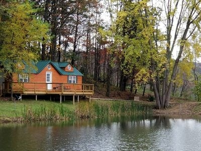 hocking hills pet friendly cabin with private pond sugar grove Pet Friendly Cabins In Hocking Hills