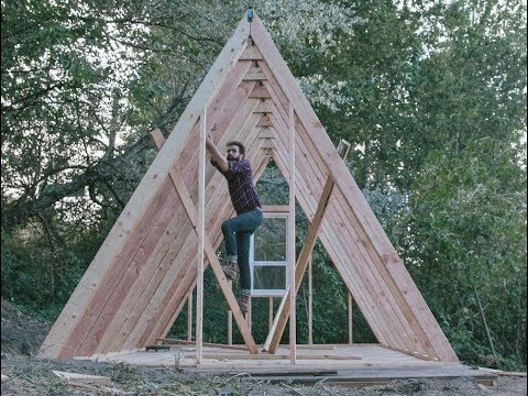 how to build an a frame house with low budget Building An A Frame Cabin
