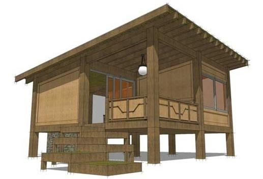 hunting cabin plans this is the front elevation of these Hunting Cabin Plans