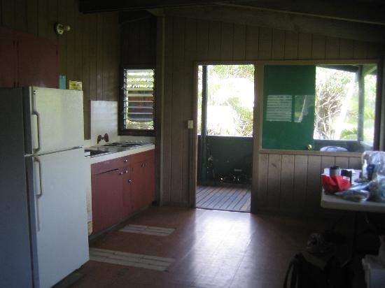 kitchen dining area deck of cabin 4 picture of Waianapanapa State Park Cabins