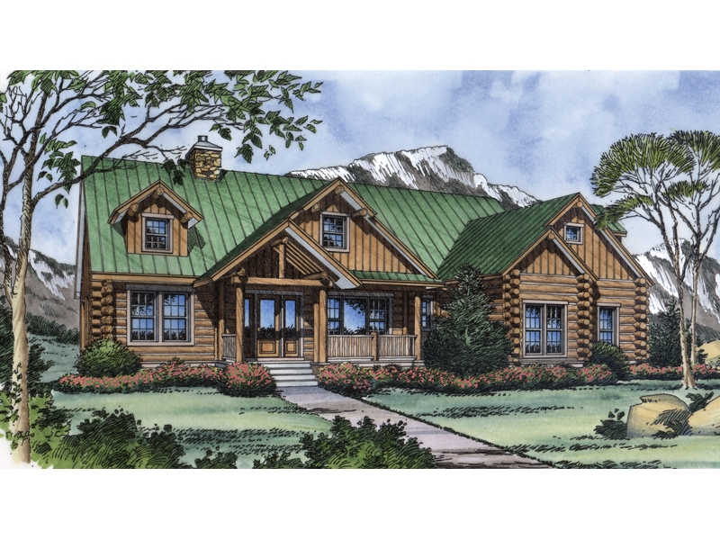 lochmoor trail rustic log home plan 047d 0078 house plans Wood Cabin House Plan