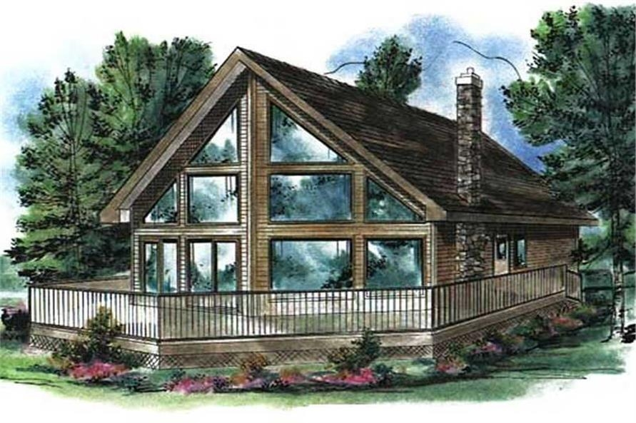 log cabin house plan 2 bedrms 1 baths 1122 sq ft 176 1003 Log Cabin House Architectural Design And Floorplans