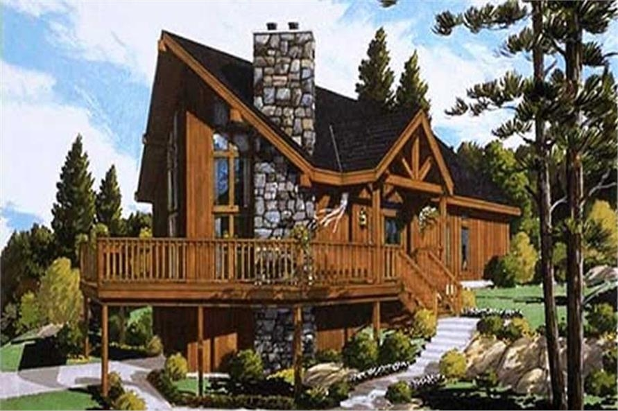 log cabin small home with 4 bdrms 1306 sq ft floor plan 105 1043 Wood Cabin House Plan