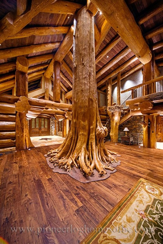 log cabin style living room loft designs rustic in Log Cabin Style