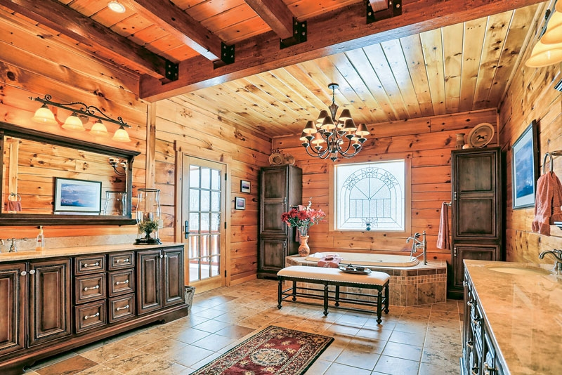 log home bathroom design ideas Log Cabin Bathroom Ideas