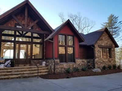 luxury mountain cabin with sunset vista view blue ridge Blue Ridge Mountain Cabin